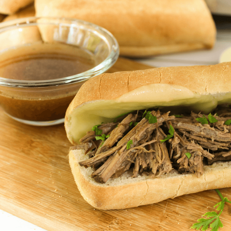 5 Ingredient Crock Pot French Dips