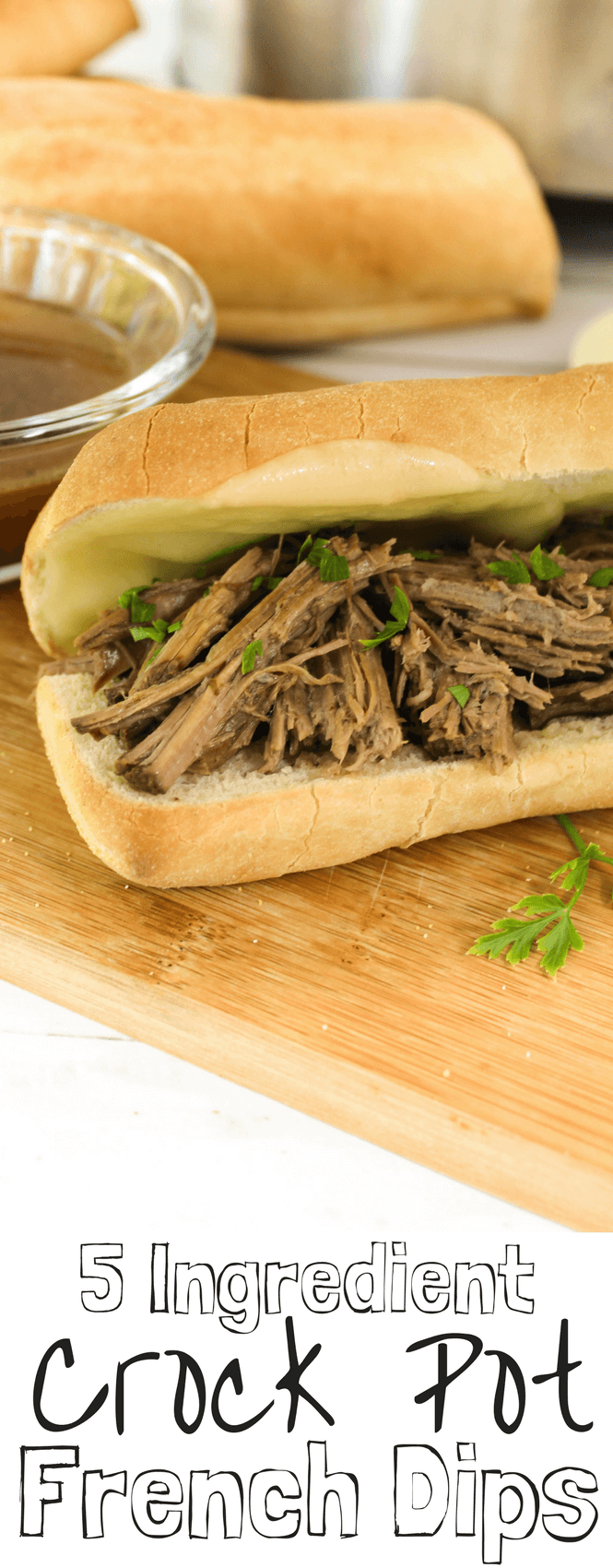 5 ingredient crockpot french dips