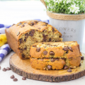 Chocolate Chip Banana Bread, banana bread recipe, banana bread loaf, chocolate banana bread, overripe banana recipe