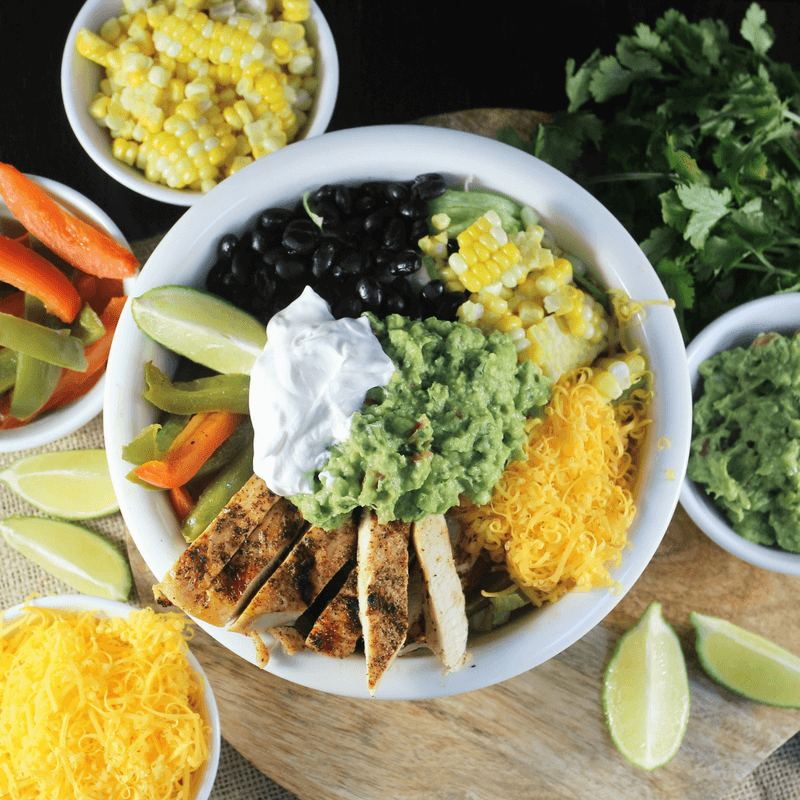 burrito-bowl-with-creamy-enchilada-sauce