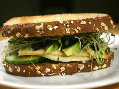 3 cheese veggie sandwich