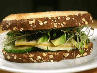 3 cheese veggie sandwich