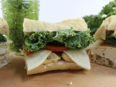 Kale Pesto Chicken Sandwich
