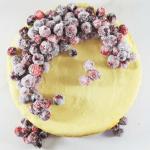 Sparkling Cranberries White Chocolate Cheesecake