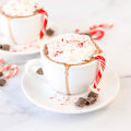 Spiked Candy Cane Hot Chocolate, candy cane vodka, hot chocolate with alcohol, adult hot chocolate, holiday recipe, holiday drink recipe, peppermint hot chocolate