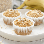 Banana Oat Muffins, healthy banana muffins, eggless muffins, high fiber breakfast, breakfast recipe with oats, banana recipe
