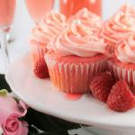 pink, champagne cupcakes, valentines, baby shower, dessert