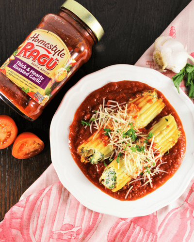 #simmeredintradition, #ad, manicotti