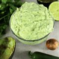 "Creamy Avocado Bomb Sauce, Avocado ""Bomb"" Sauce, avocado sauce, dipping sauce, avocado dipping sauce, avocado dressing, sauce for everything, keto sauce, healthy sauce, healthy dip, healthy dressing,"