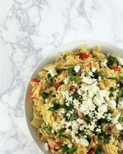 Creamy Orzo Pasta Salad