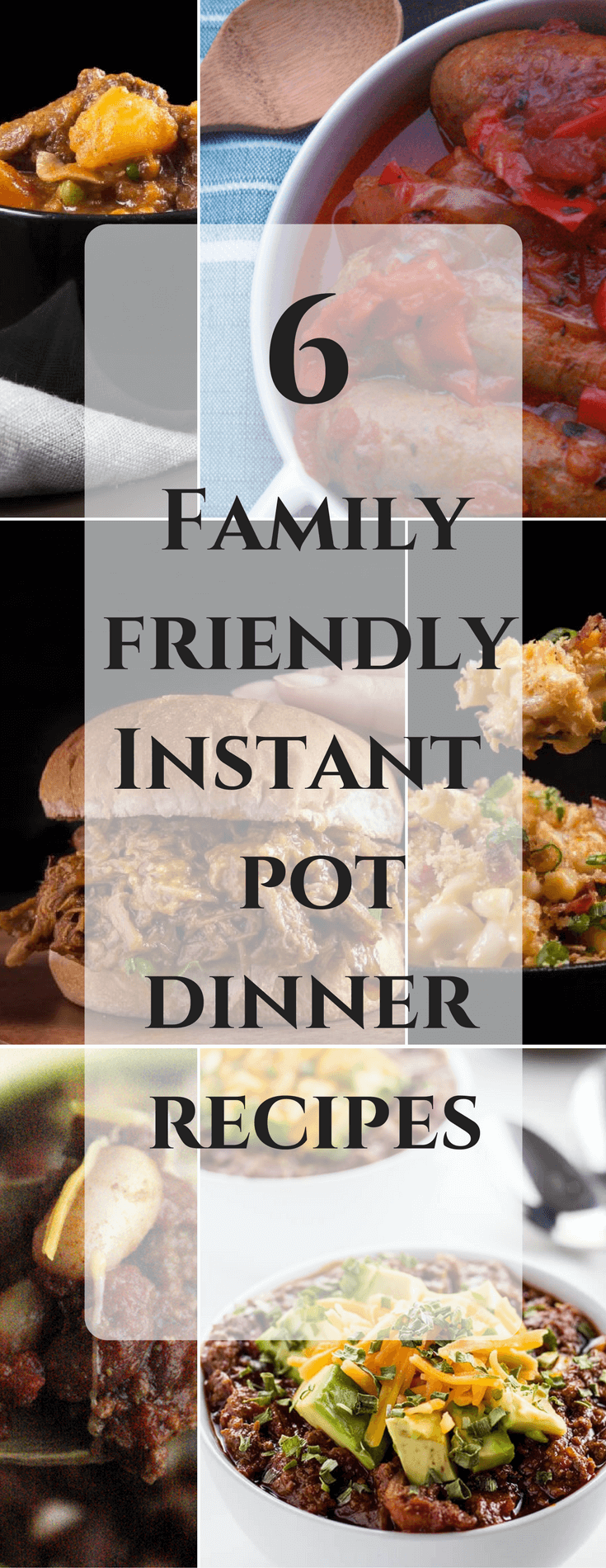 6 Family Friendly Instant Pot Dinner Recipes