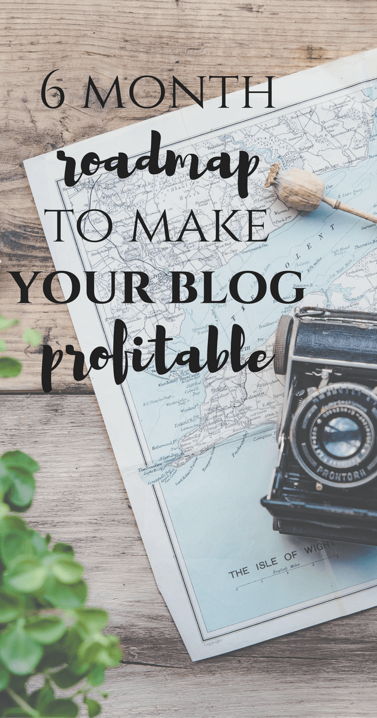 6 Month Road Map to Make Your Blog Profitable