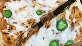 BBQ Chicken Naan Pizza