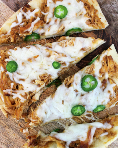 BBQ Chicken Naan Pizza