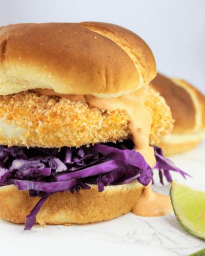 Crispy Baked Cod Sandwich
