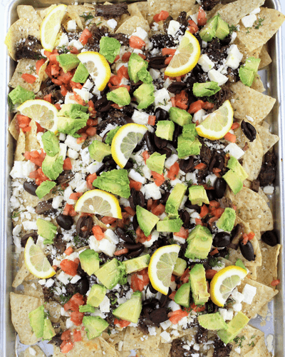 lamb and feta nachos, summer slow cooker recipes