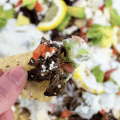 Lamb and Feta Nachos