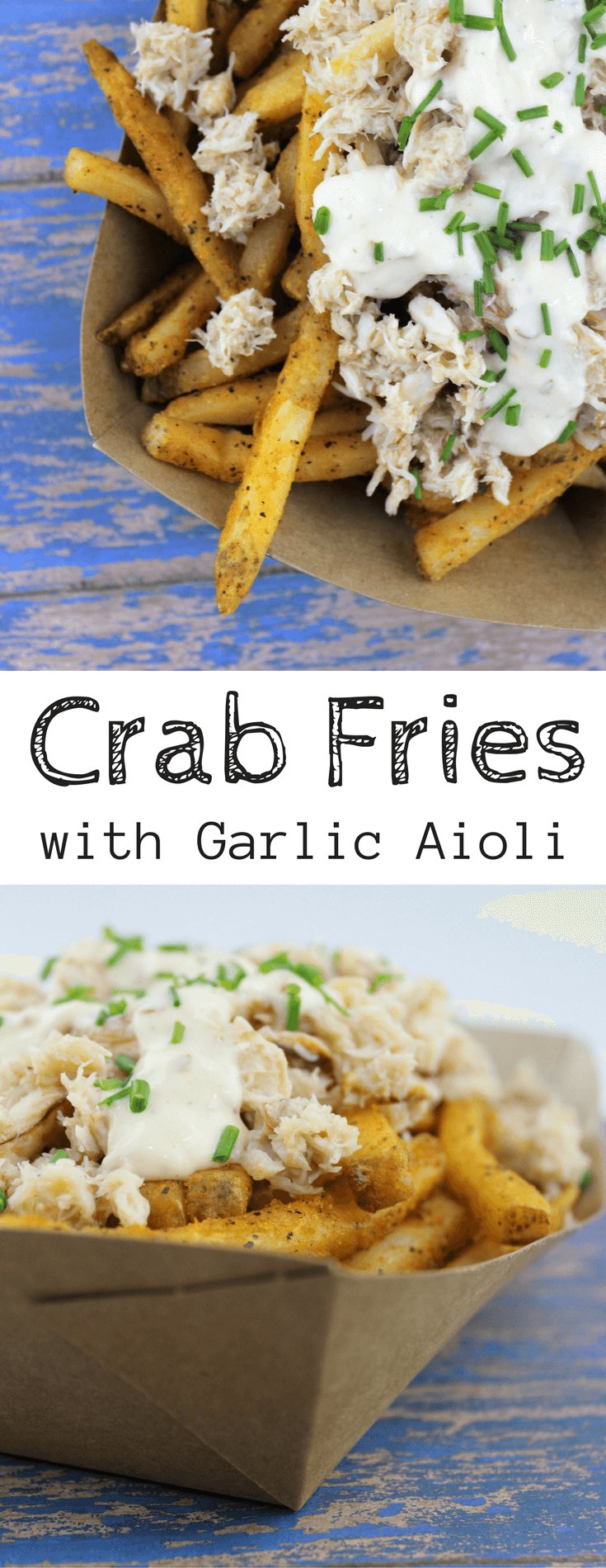 crab fries, garlic aoili