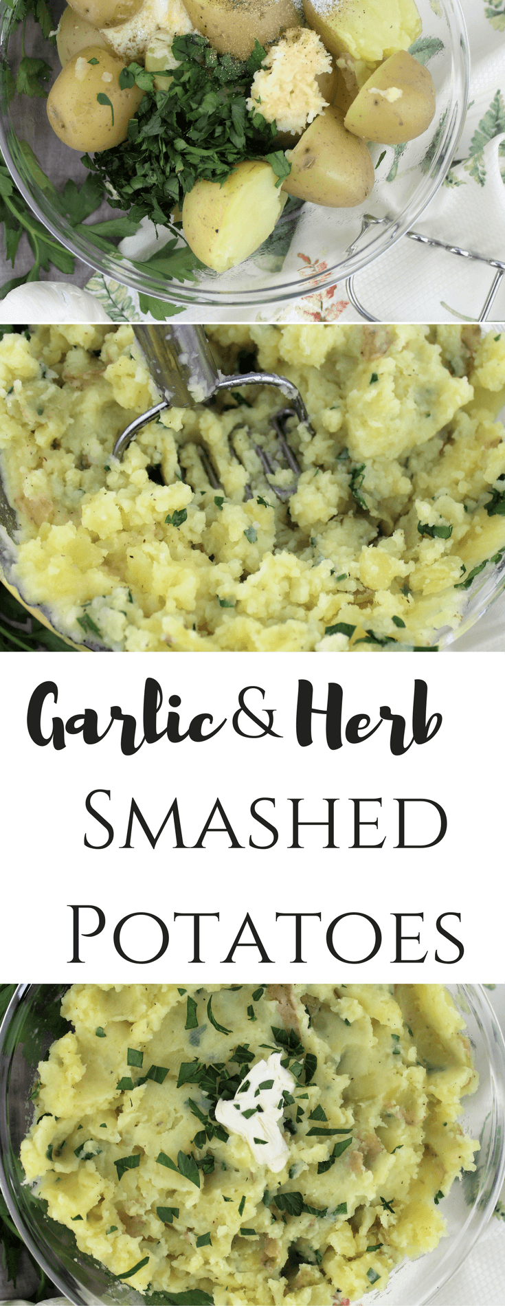 Garlic & Herb Smashed Potatoes