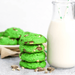 Mint Chocolate Chip Cookies, andes mint recipe, sint patricks day recipe, saint patricks day dessert, mint cookies, recipes with mint, green food, green dessert, #cookies #mint #stpatricksdy