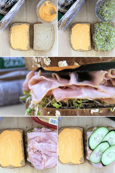 #SandwichWithTheBest, #ad, Ham, Cucumber and Sprout Sandwich with Spicy Mayo