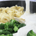 Chicken with Broccoli Tortellini Alfredo