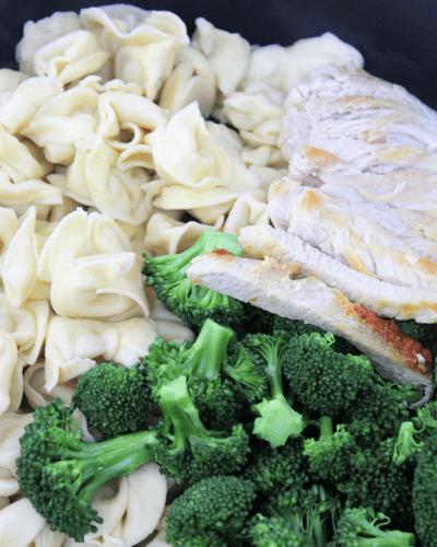 Chicken with Broccoli Tortellini Alfredo