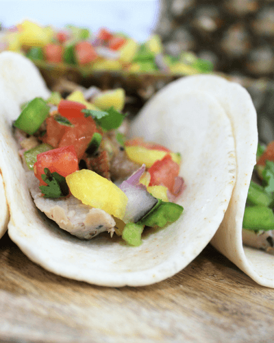 #RealFlavorRealFast, #ad, Pork Tacos with Pineapple Salsa
