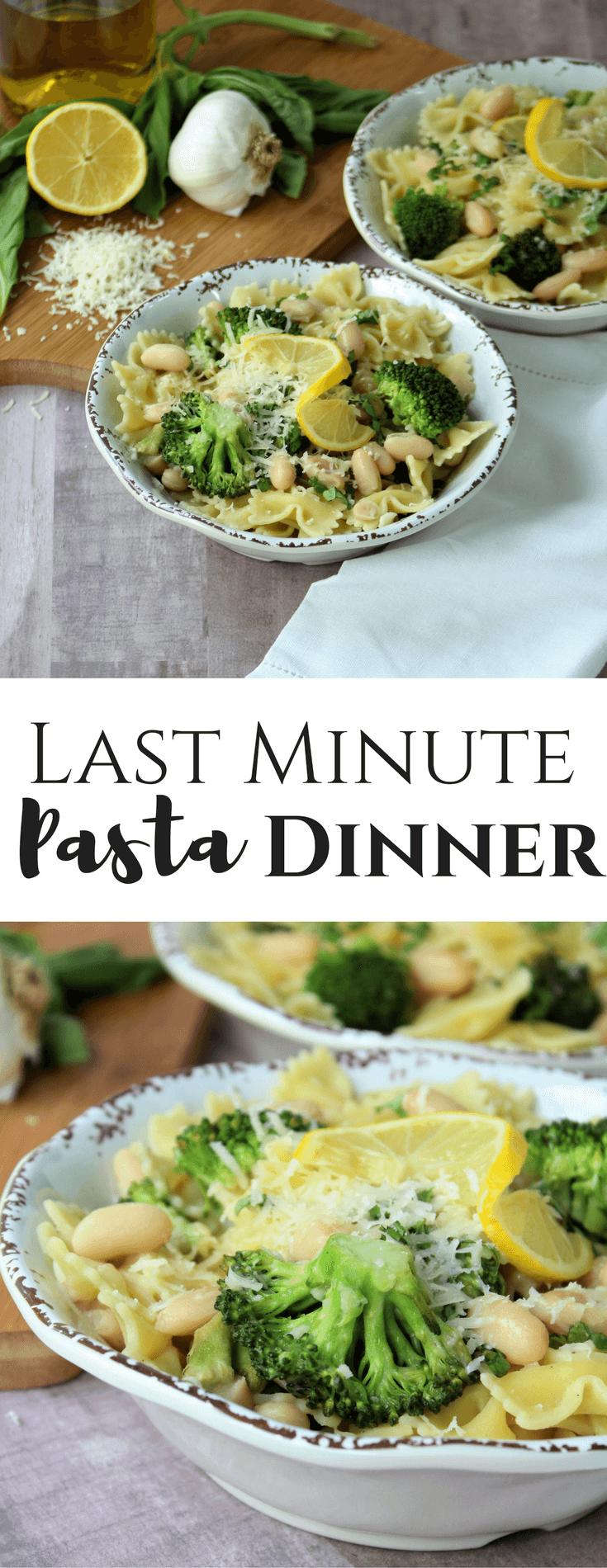 Last Minute Pasta Dinner
