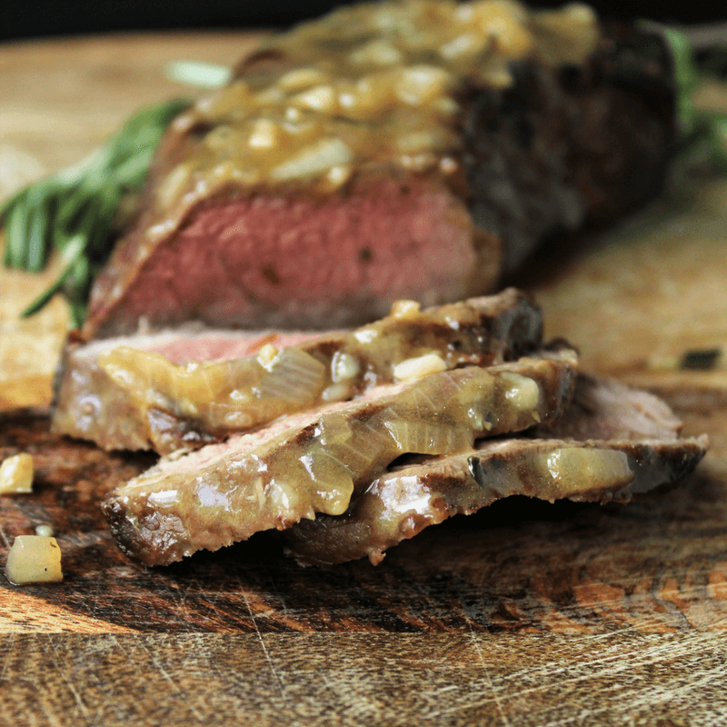 Steak with Rosemary Garlic Sauce