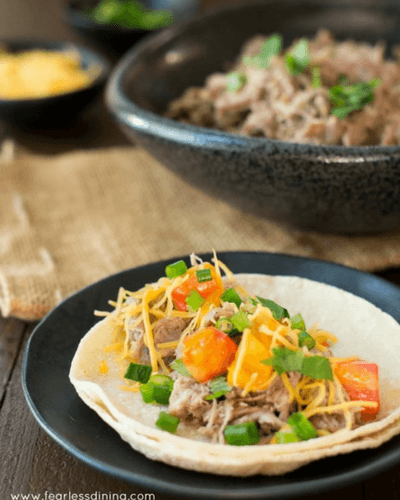 pulled pork taco, summer slow cooker recipes