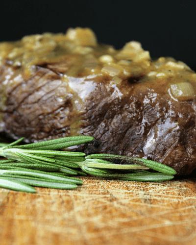 Steak with Rosemary Garlic Sauce