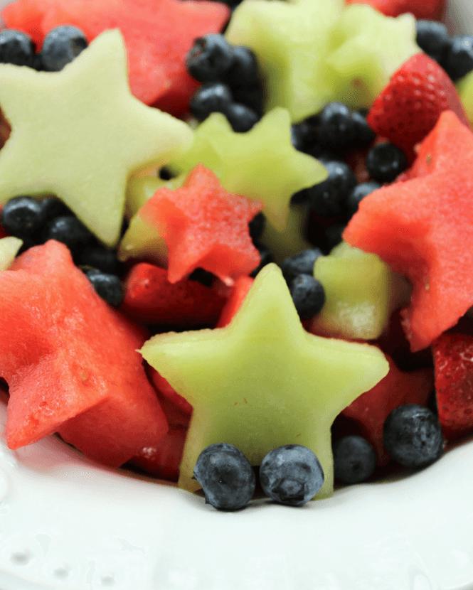 Fruit Salad with Lemon Maple Dressing