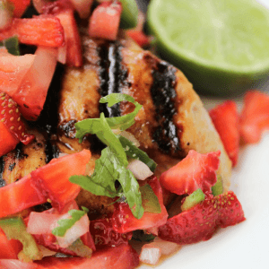 Grilled Honey Chicken with Strawberry Salsa
