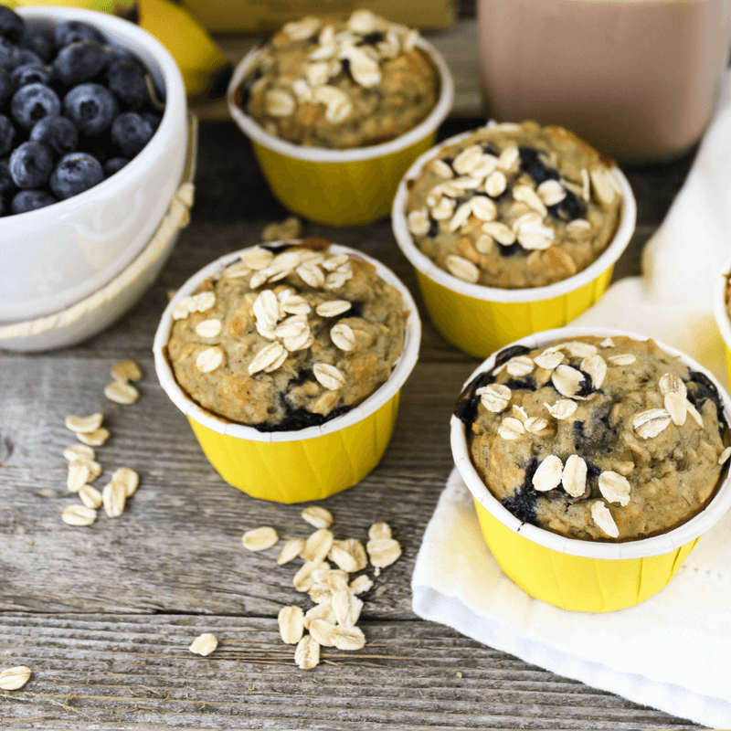 #Bananamazing #collectivebias #ad Blueberry Banana Oat Muffins, bananamilk recipe, snack, breakfast, muffin, kid friendly
