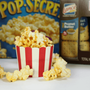 #Pop4Captain #Pmedia #ad Popcorn Cupcakes, Lance, Pop Secret, Captain Underpants, Movie night snacks, Popcorn recipes, Cracker recipes, Snack bar recipes, Captain Underpants movie