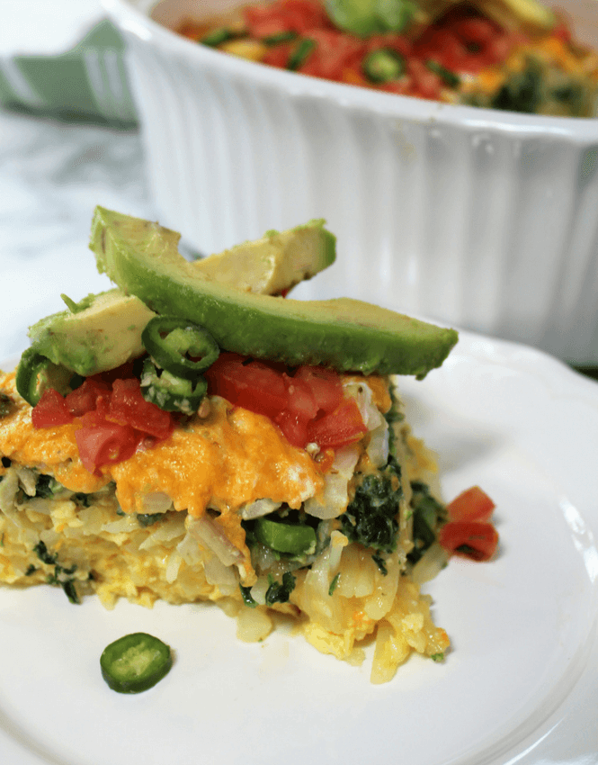 Veggie Loaded Breakfast Casserole, #ExperienceScrubDots, #ad