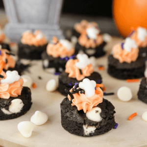 Halloween Fudge Cookie Bites