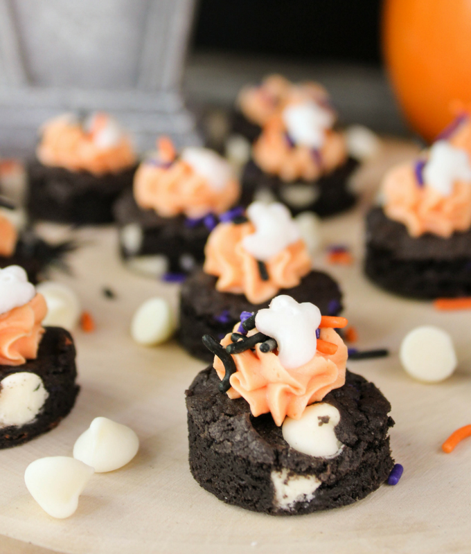 Halloween Fudge Cookie Bites, Halloween cookies, #Halloween , #cookies