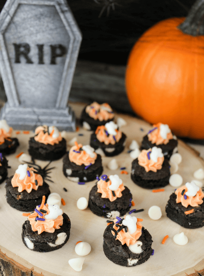 Halloween Fudge Cookie Bites, Halloween cookies, #Halloween , #cookies