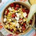 Charred Corn and Feta Salad, side dish, #corn