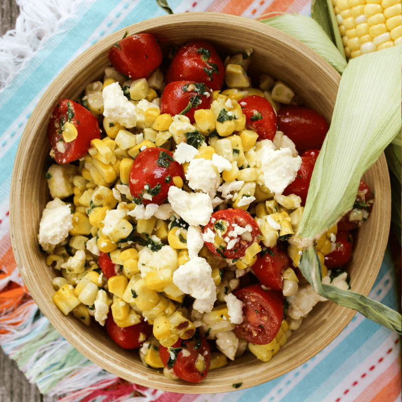 Charred Corn and Feta Salad, side dish, #corn