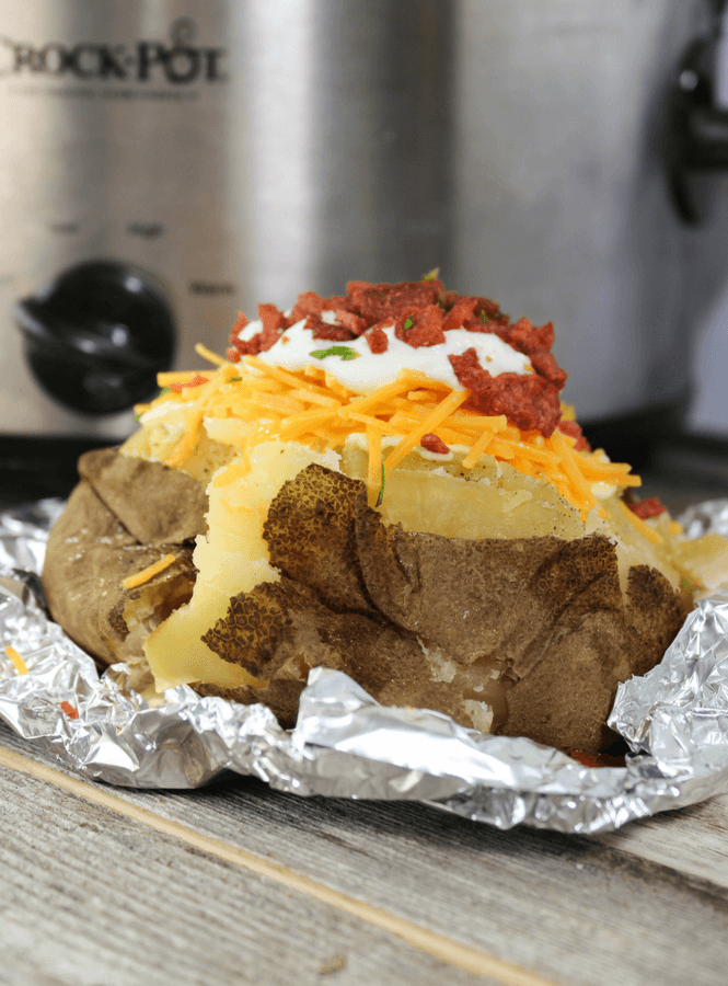 Potatoes , slow cooker baked potatoes, baked potatoes, #crockpot #slowcooker #potatoes
