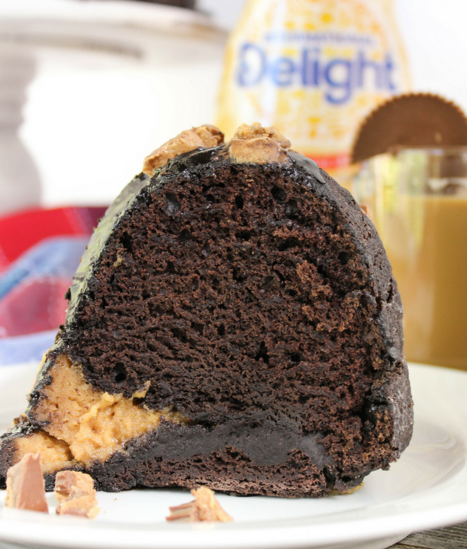 Peanut Butter Chocolate Bundt Cake, #ad #DelightfulMoments #CollectiveBias, Dessert, #dessert