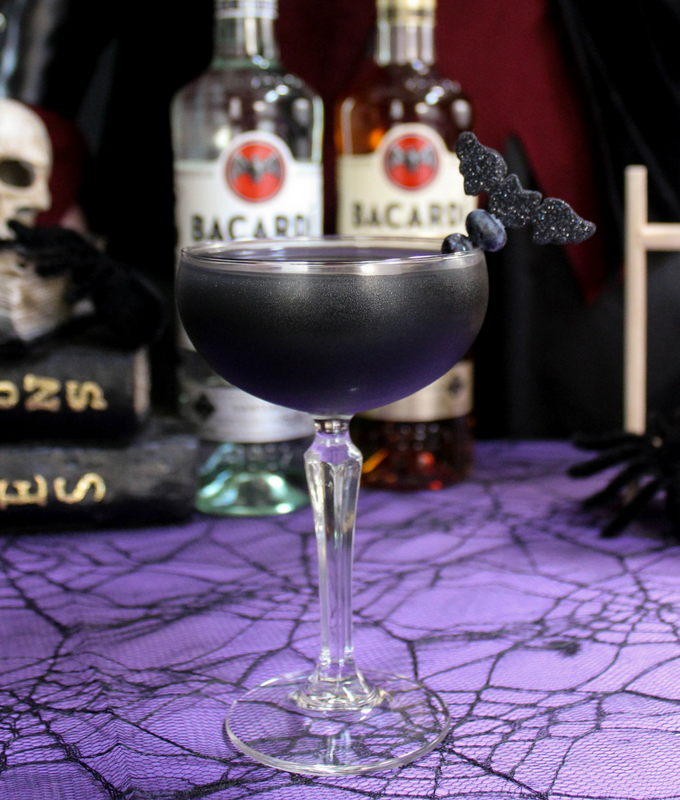 #ad, Black As Your Soul Halloween cocktail, #NightOfTheBat , #UnmaskYourSpirit, #halloween, lemonade, activated charcoal recipe