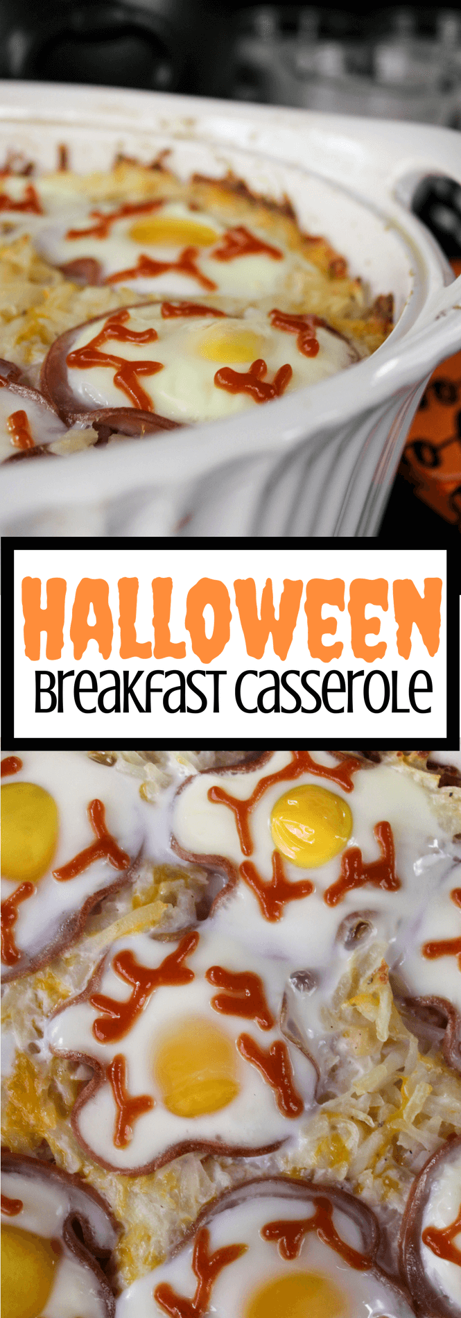 Halloween Breakfast Casserole