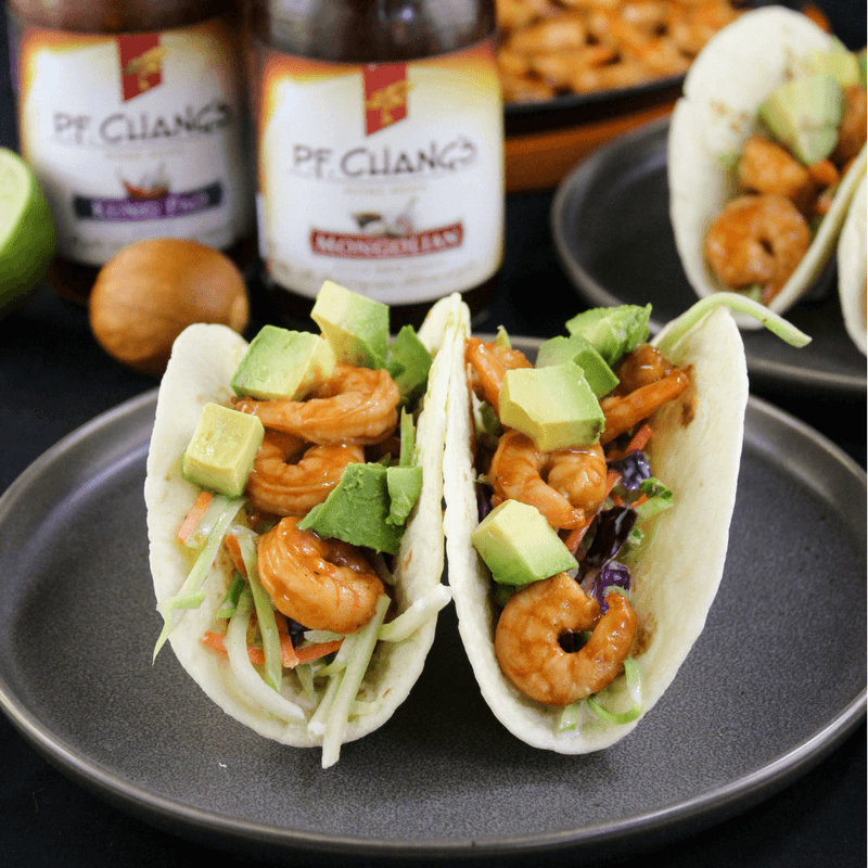 #ad, #AuthenticMadeEasy, Mongolian Shrimp Tacos, quick dinner recipe
