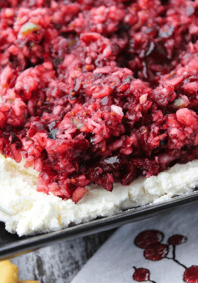 Poblano Cranberry Relish and Cream Cheese Dip