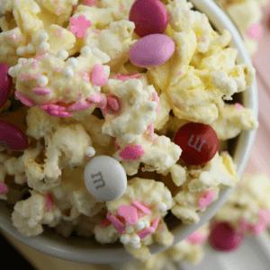 Valentine's Day White Chocolate Popcorn
