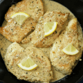 Garlic Chicken with Lemon Garlic Cream Sauce, #ad, #WhatAGoodThyme, Lemon Tablescape, Spring party tablescape, spring dinner menu, Thyme & Table